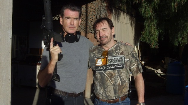 Logan Clarke and Pierce Brosnan